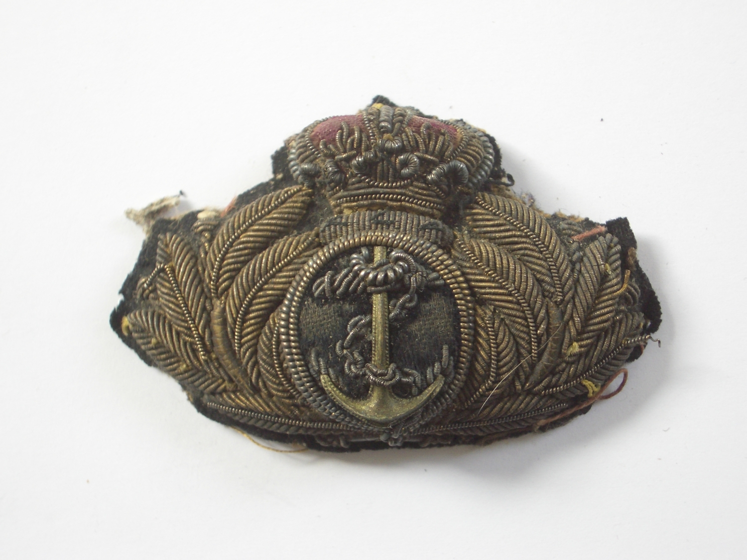 Royal Navy Victorian Officer S Cap Badge In Naval