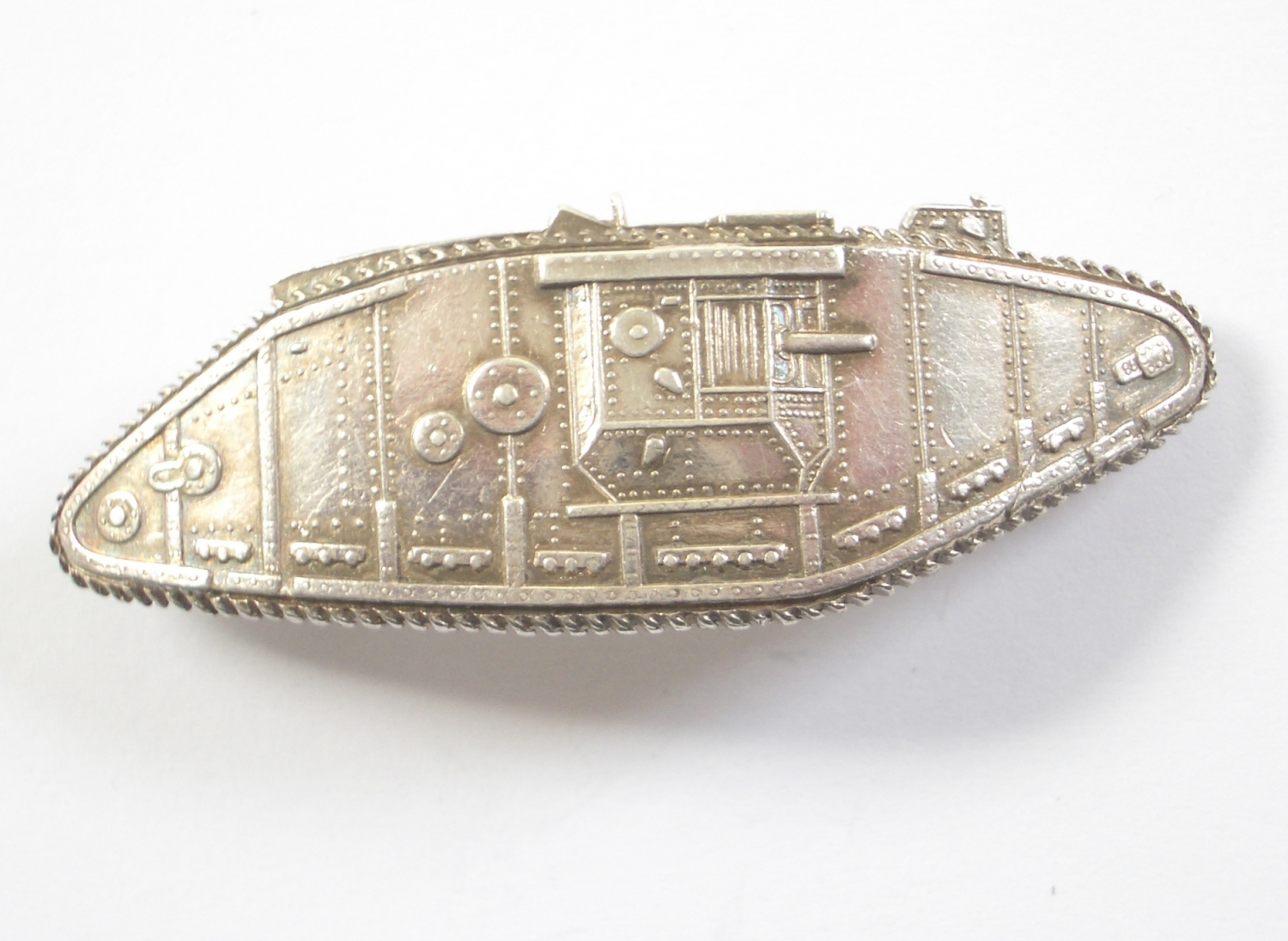 Tank Corps Officer's 1917 silver arm badge