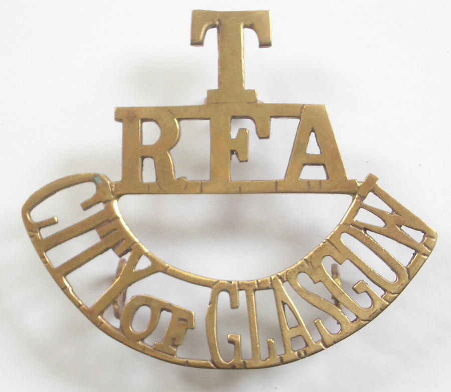 T/RFA/CITY OF GLASGOW shoulder title