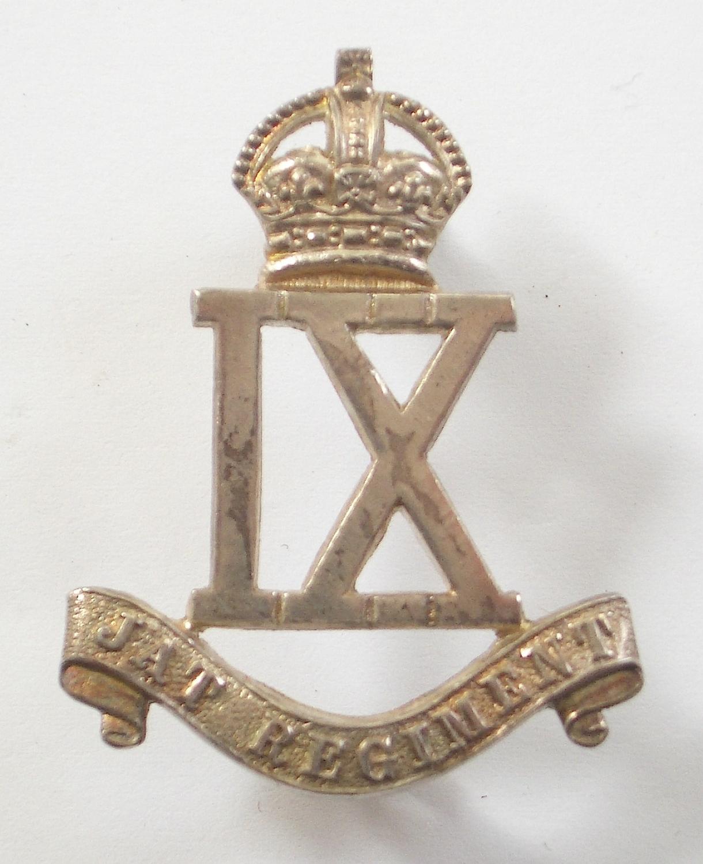 9th Jat Regiment 1923 HM silver cap badge