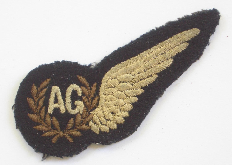 RAF WW2 Aircrew Air Gunner's brevet