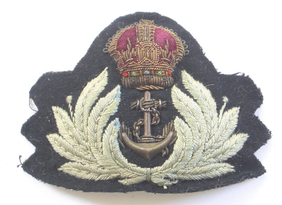 WRNS WW2 Royal Navy Wren Officer's cap badge