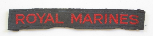 ROYAL MARINES WW2 cloth shoulder title