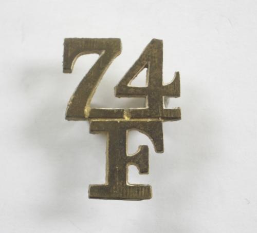 74th Field Battery RA pagri flash badge