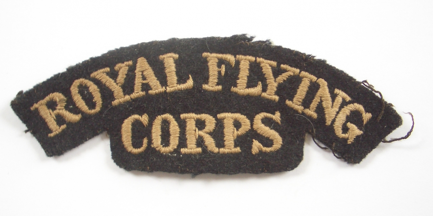 ROYAL FLYING / CORPS WW1 shoulder title