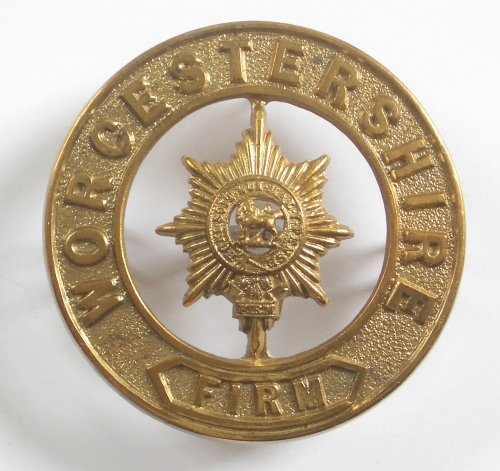 Worcestershire Regiment helmet plate centre