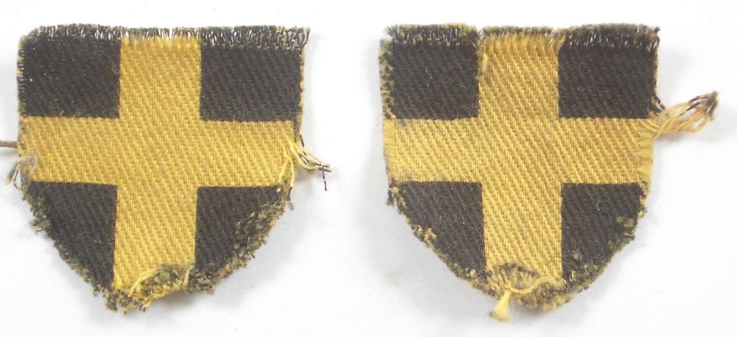 38th Welsh Division pair of formation signs
