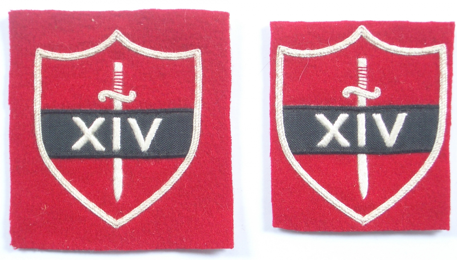 14th Army pair of WW2 formation signs