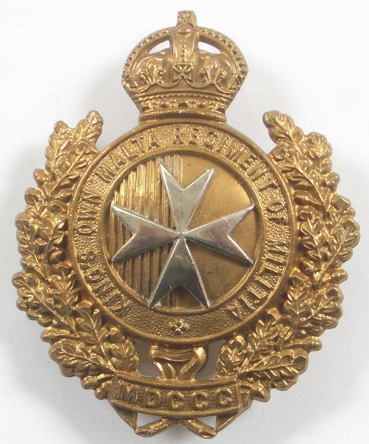 KO Malta Regiment of Militia cao badge