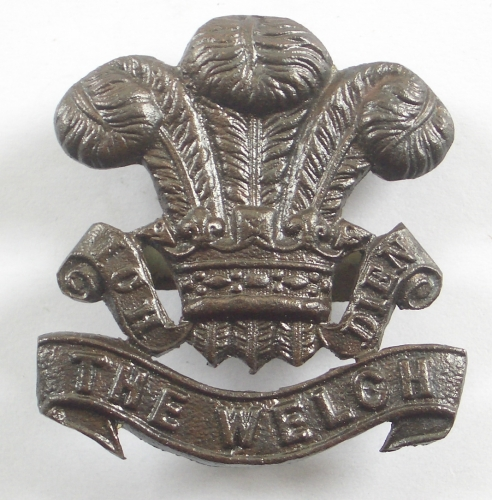 Welch Regiment OSD bronze cap badge