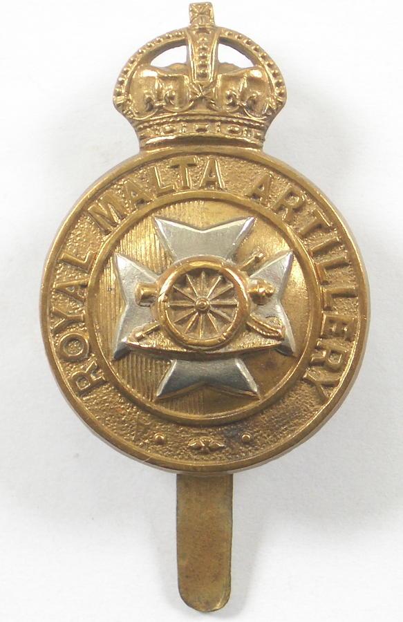 Royal Malta Artillery cap badge