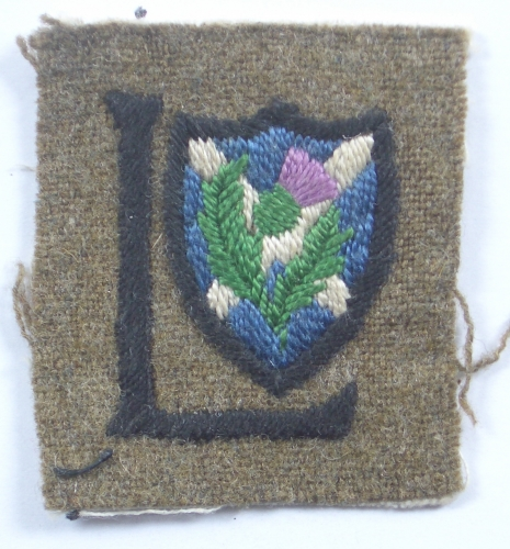 52nd Lowland Division WW1 formation sign.