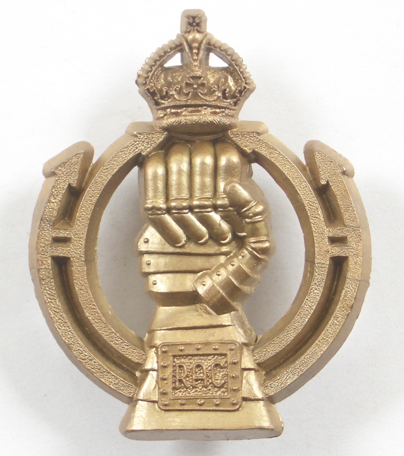 Royal Armoured Corps plastic beret badge