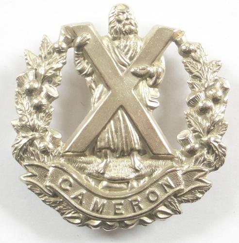 Cameron Highlanders of Canada glengarry badge
