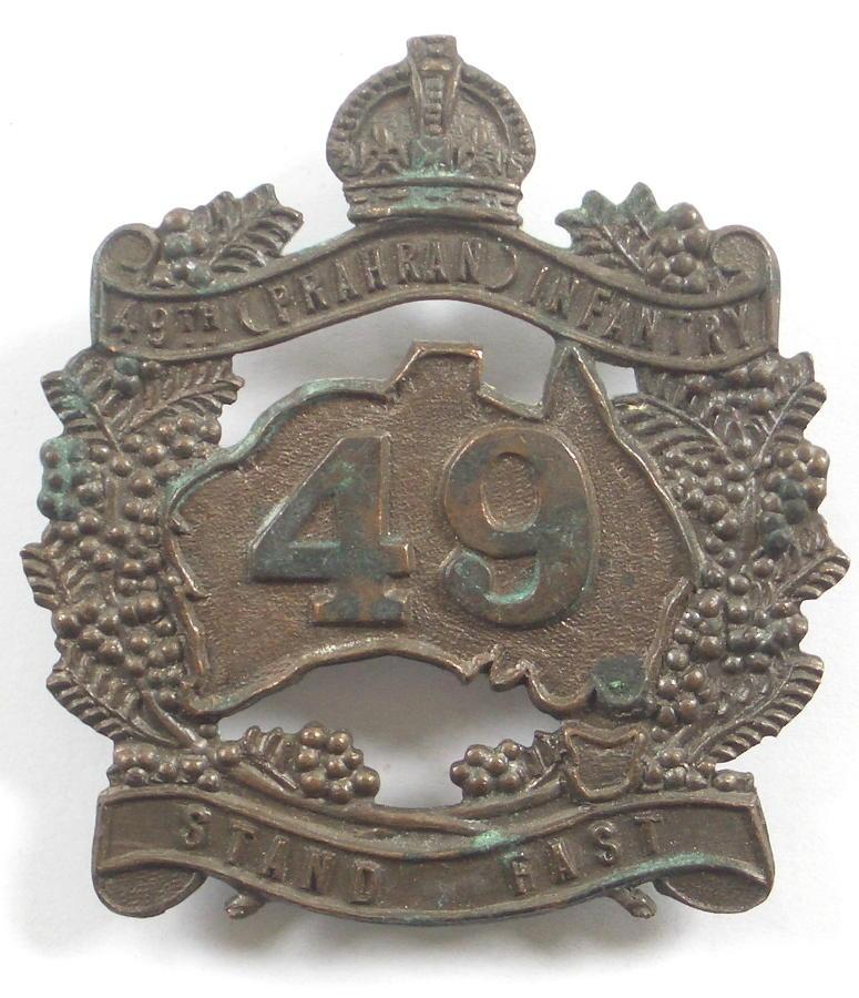 49th Australian (Prahran) Infantry hat badge
