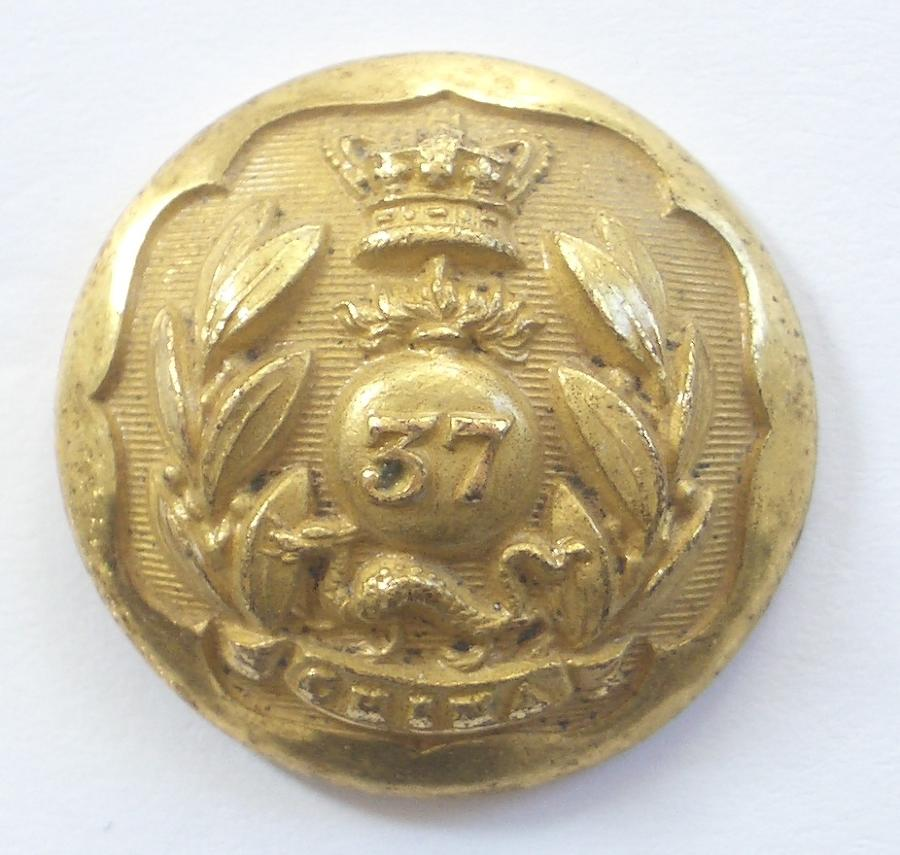 37th Grenadier Regt Madras NI coatee button