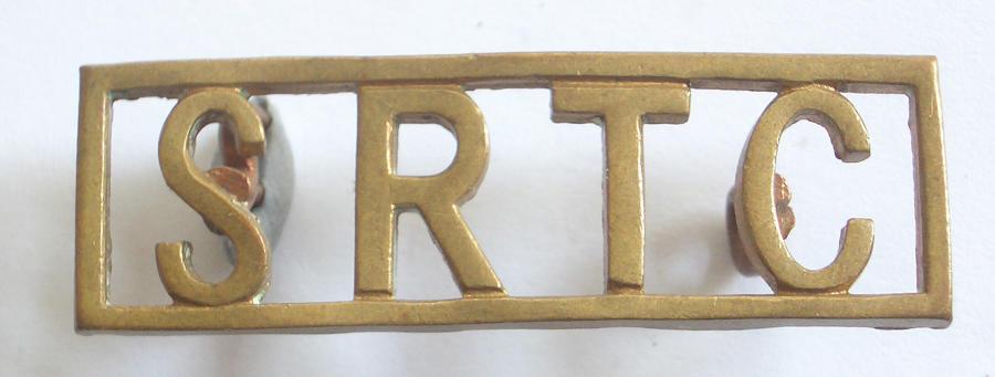 SRTC Rhodesian brass shoulder title