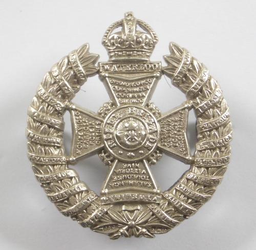 Rifle Brigade HM silver 20 honour cap badge