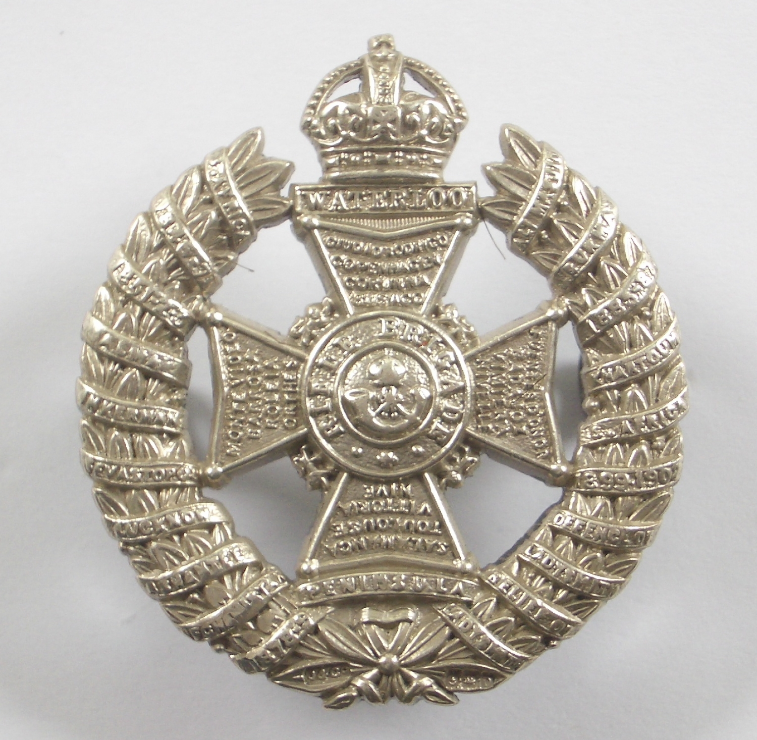 Rifle Brigade HM silver 20 honour cap badge