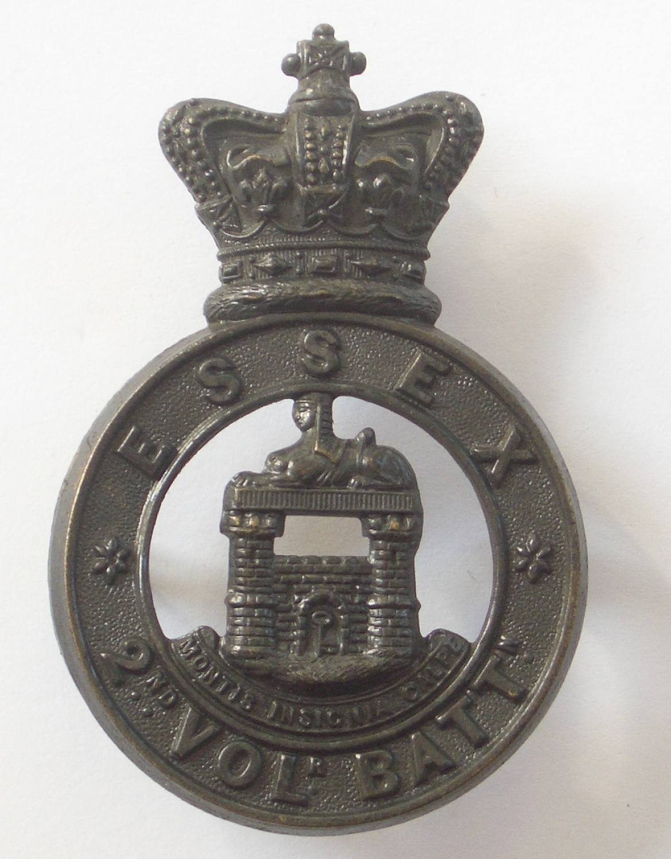 2nd (Colchester) VB Essex Reg glengarry badge