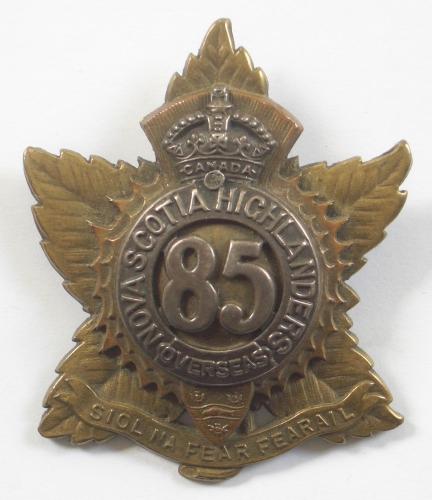 85th (Nova Scotia Hldrs) CEF Officer's badge