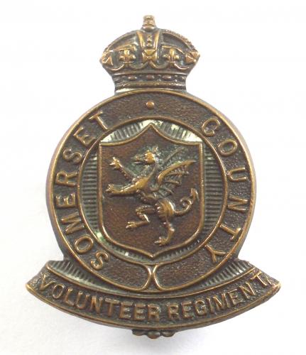 Somerset County WW1 VTC cap badge