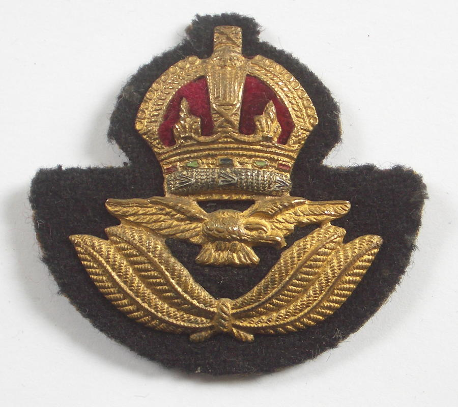 RAF Officer's Kings Crown beret badge