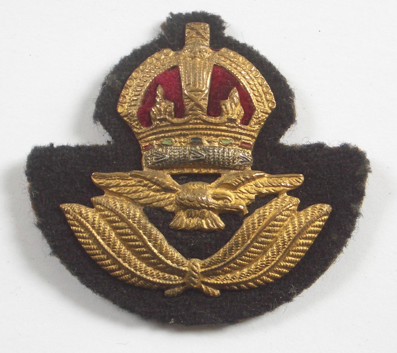 RAF Officer's Kings Crown beret badge