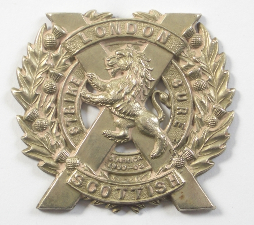London Scottish post 1908 sporran badge