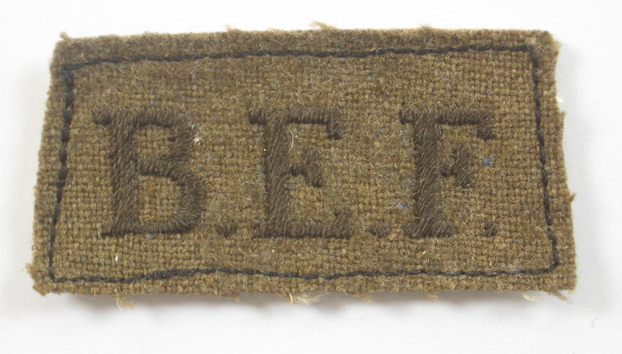 BEF British Expeditionary Force Slip on title
