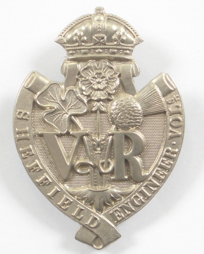 Sheffield Engineer Vols glengarry badge
