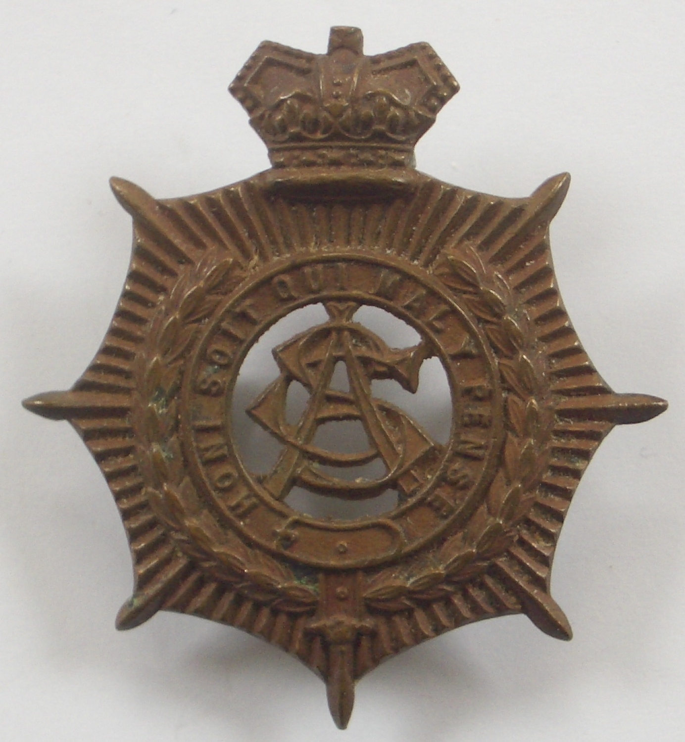Army Service Corps Victorian cap badge