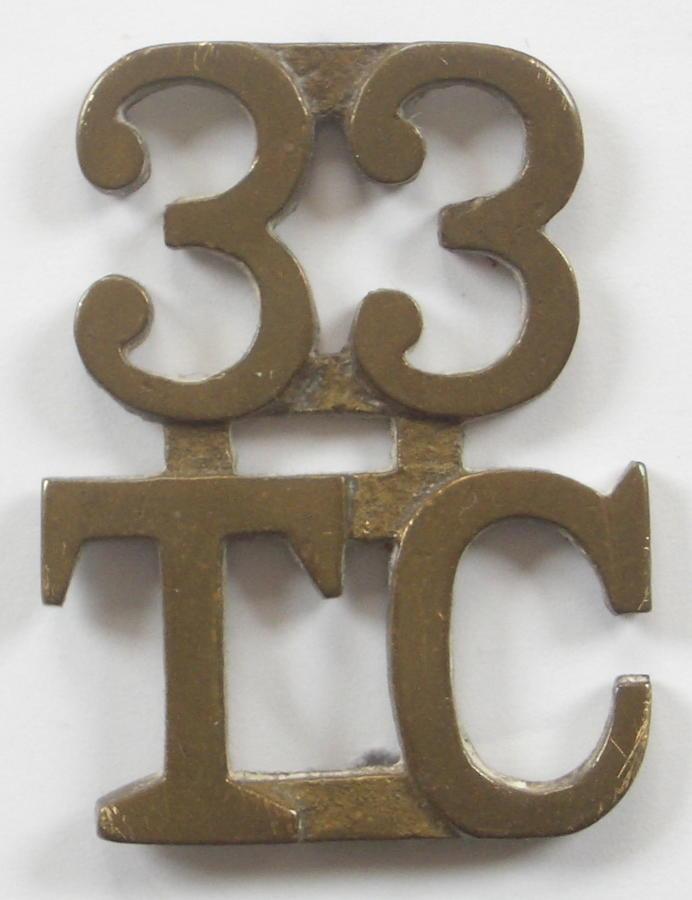 33rd Transport Company WW1 shoulder title