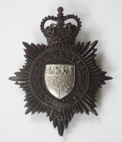 Norfolk Constabulary police helmet plate