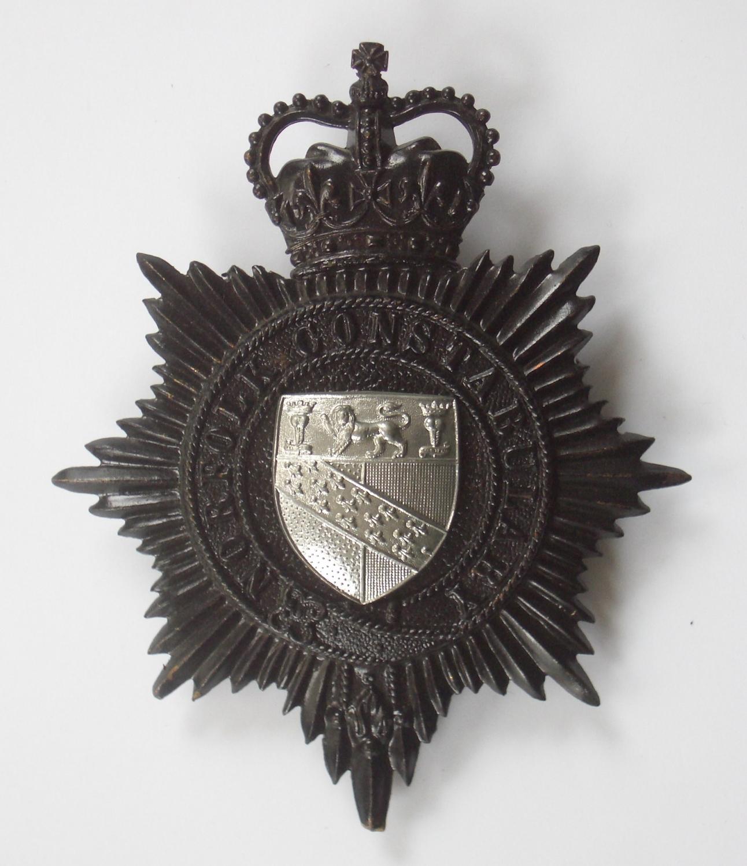 Norfolk Constabulary police helmet plate