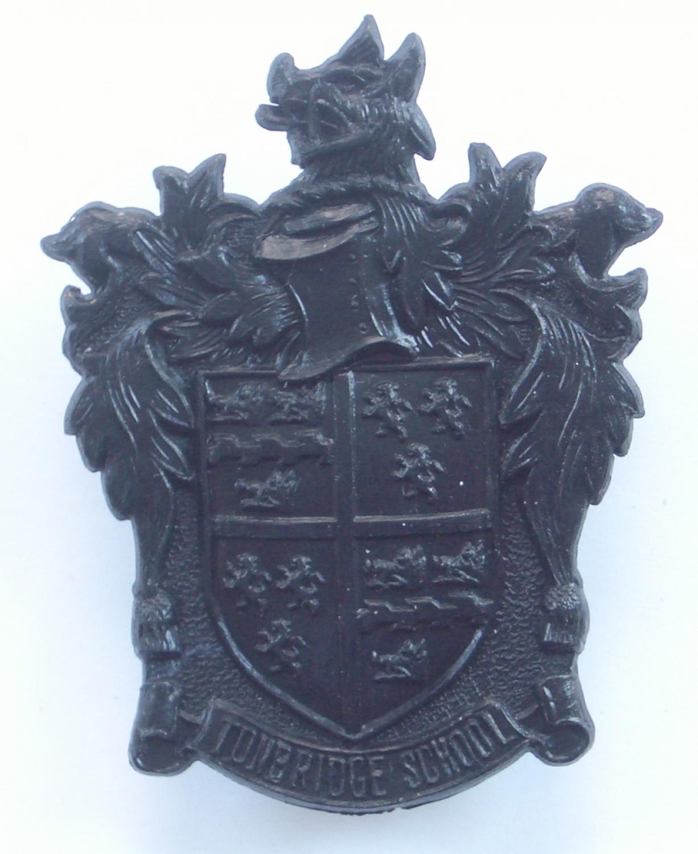 Tonbridge School OTC scarce plastic cap badge