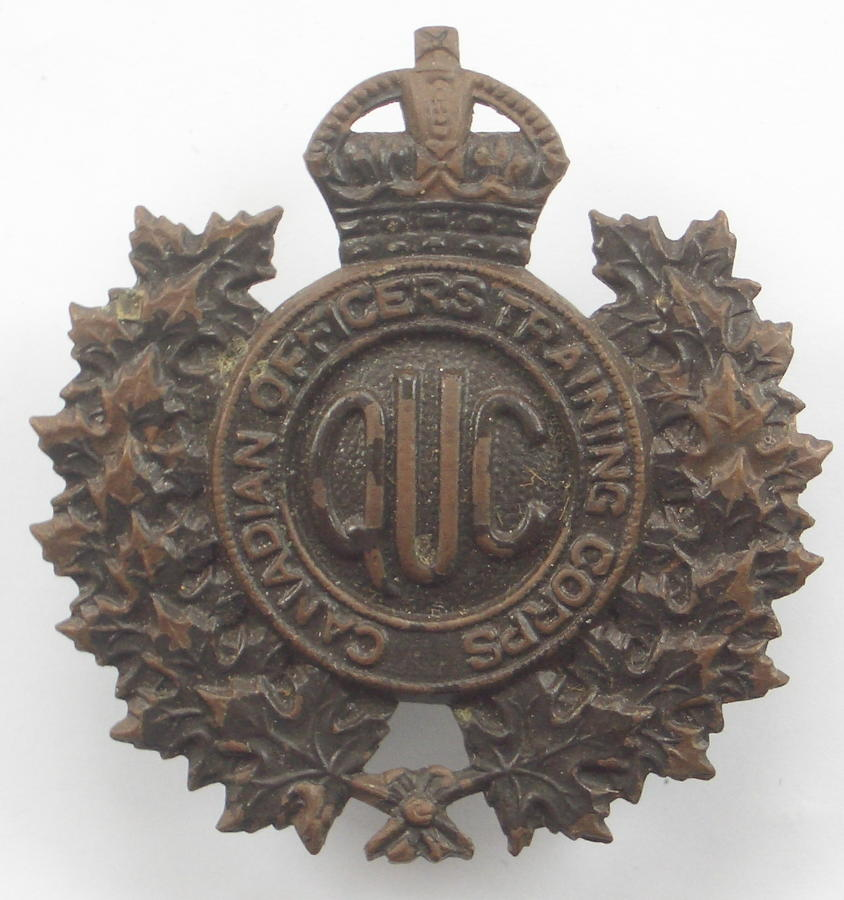 QUC Canadian OTC bronze cap badge