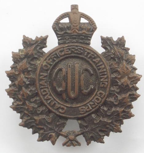 QUC Canadian OTC bronze cap badge