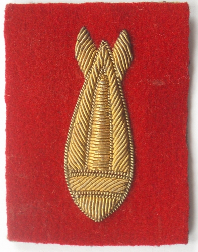 Bomb Disposal bullion sleeve badge