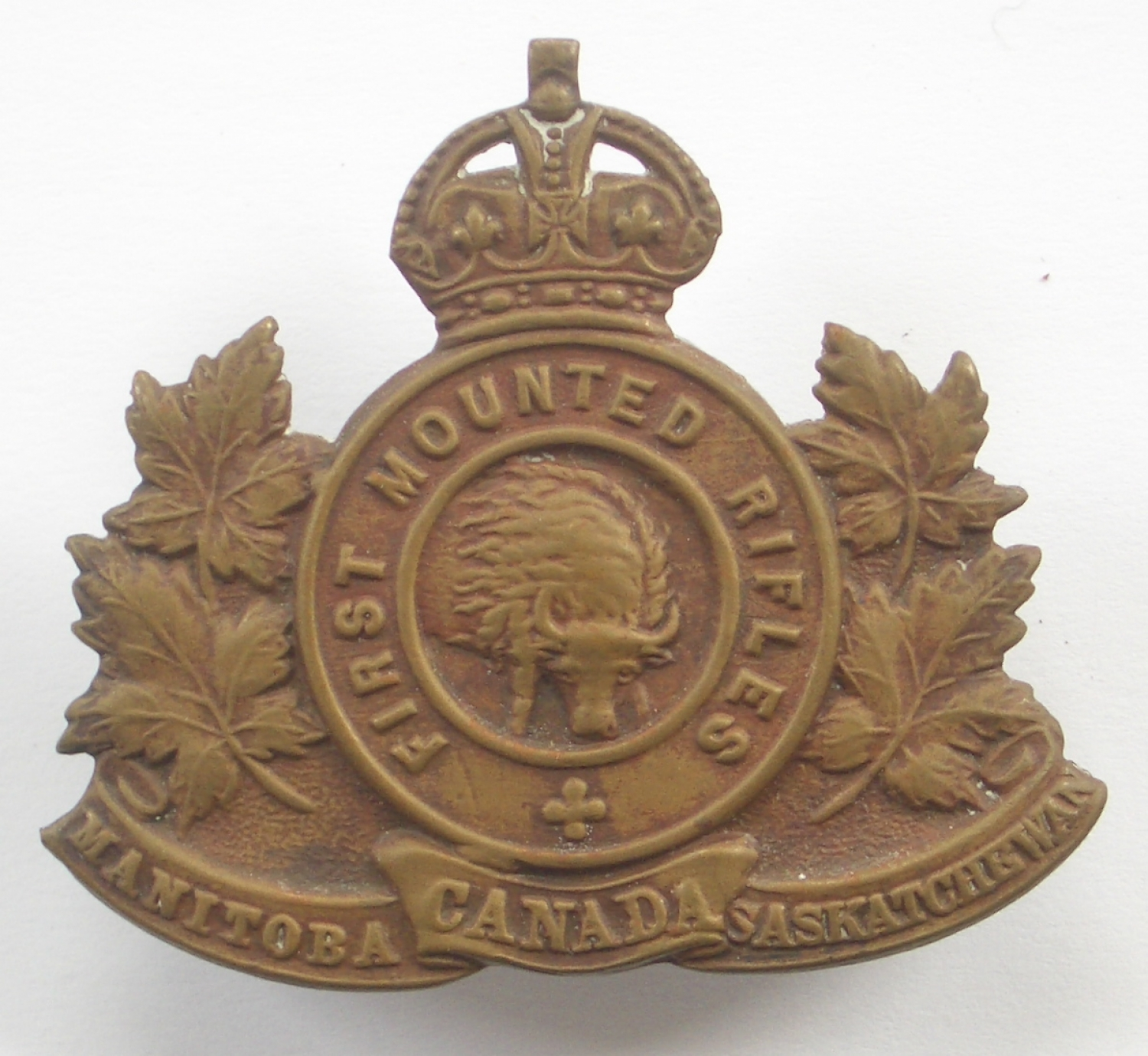 Canadian First Mounted Rifles cap badge