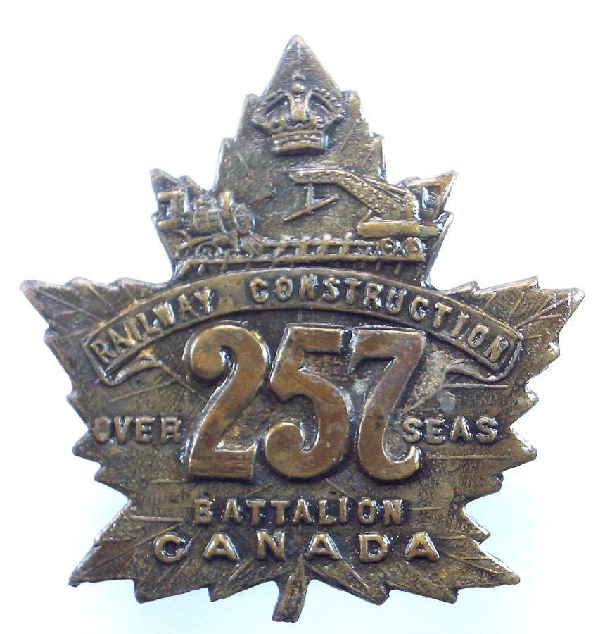 Canadian 257th Bn CEF cap badge