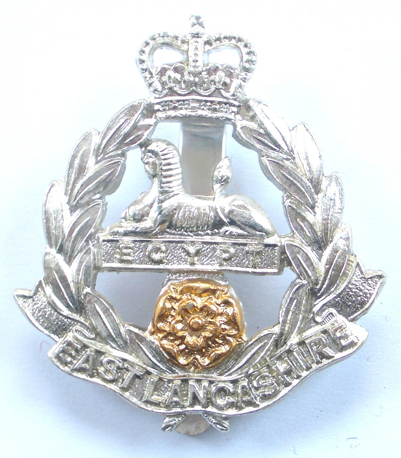 East Lancashire anodised cap badge