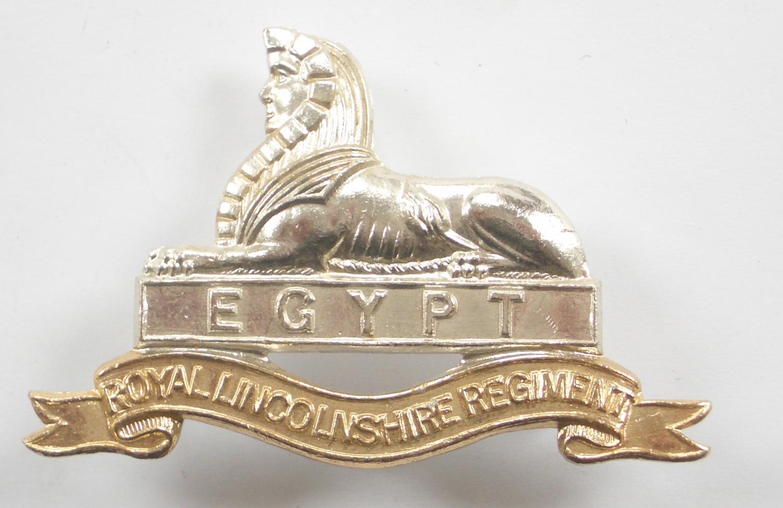 Royal Lincolnshire Regt anodised cap badge