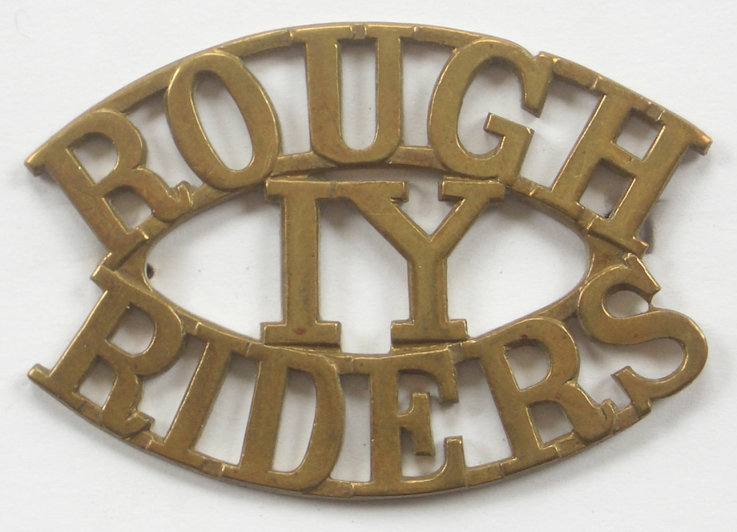 ROUGH / IY / RIDERS scarce shoulder title