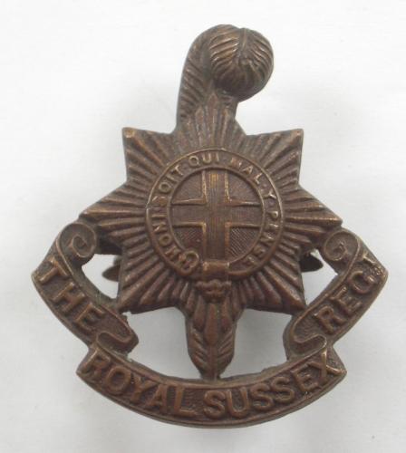 Royal Sussex Regt OSD cap badge