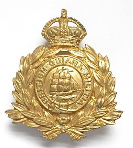 British Guiana Militia  brass cap badge.