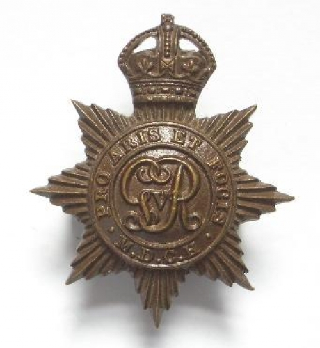 Middlesex Yeomanry OSD bronze cap badge