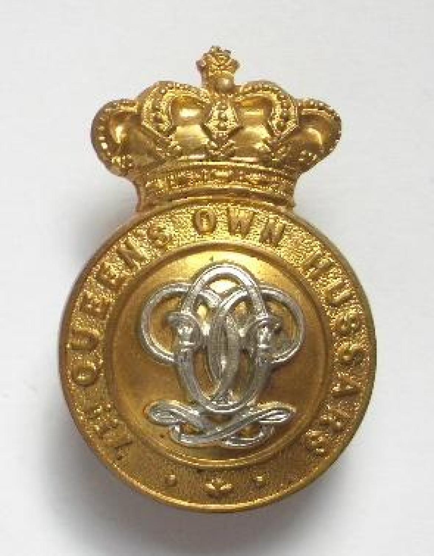 7th Queen's Own Hussars Victorian cap badge