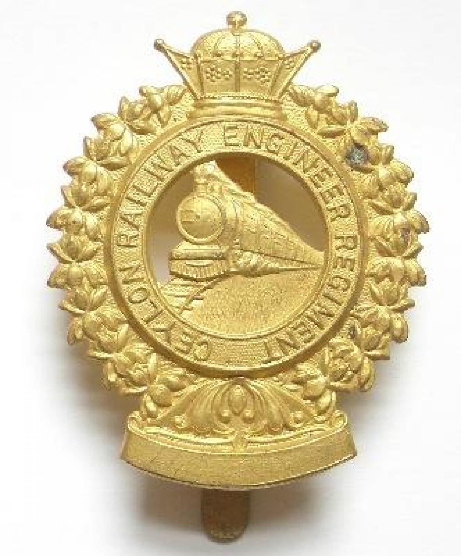 Ceylon Railway Engineer Regiment cap badge