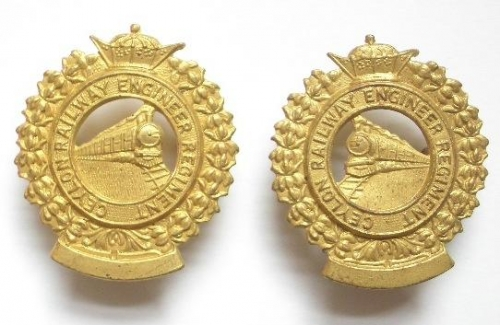 Ceylon Railway Engineer Regiment collars